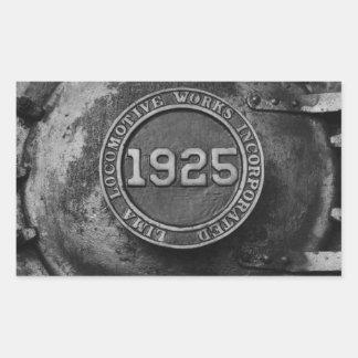 1925 Train Engine Rectangular Sticker