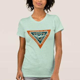 1925 vías aéreas de los parques nacionales camiseta