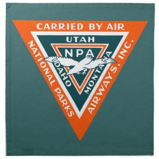 1925 vías aéreas de los parques nacionales servilleta imprimida
