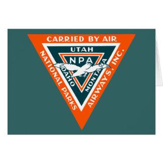 1925 vías aéreas de los parques nacionales felicitación