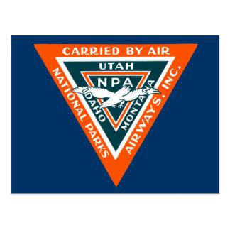 1925 vías aéreas de los parques nacionales tarjetas postales