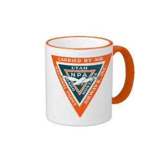 1925 vías aéreas de los parques nacionales taza de café