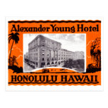 1925 Young Hotel Honolulu Hawaii Post Cards