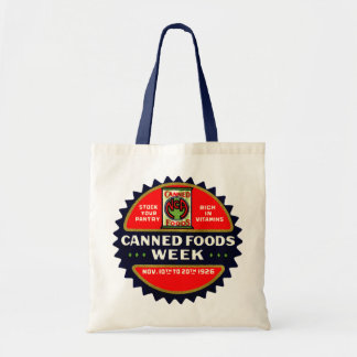 1926 Canned Foods Week Canvas Bags