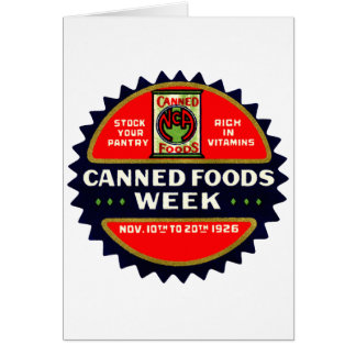 1926 Canned Foods Week Cards