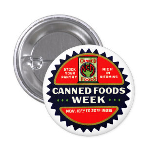 1926 Canned Foods Week Pins