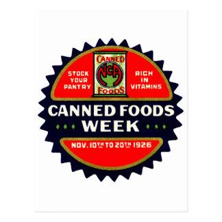 1926 Canned Foods Week Postcards