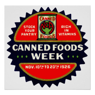 1926 Canned Foods Week Posters