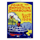 1926 Cherbourg France Poster Greeting Cards