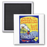 1926 Cherbourg France Poster Magnets