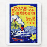 1926 Cherbourg France Poster Mouse Pad