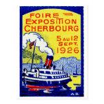 1926 Cherbourg France Poster Postcard
