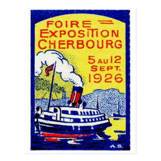 1926 Cherbourg France Poster Postcard