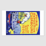 1926 Cherbourg France Poster Rectangle Sticker