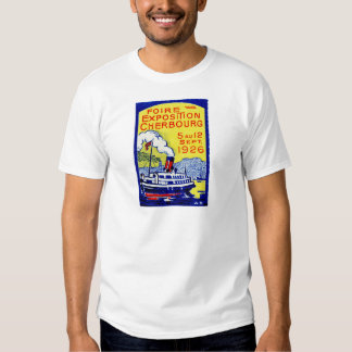 1926 Cherbourg France Poster T-shirts