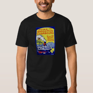 1926 Cherbourg France Poster Tshirts