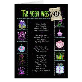 1926 datos divertidos tarjeta de felicitación