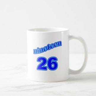 1926 diecinueve 26 taza de café