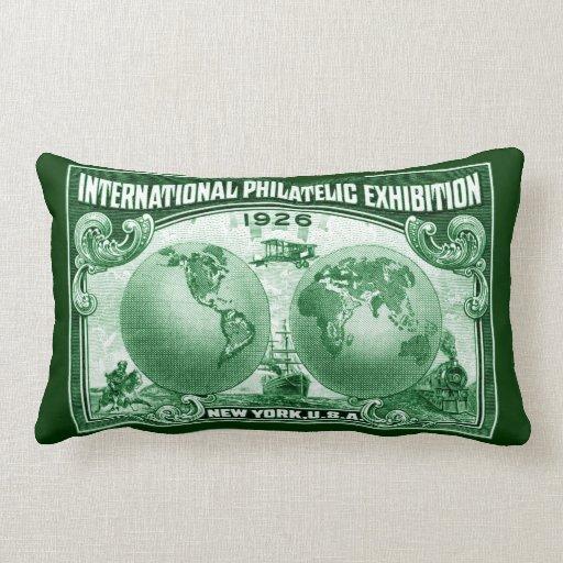 1926 expo filatélica internacional Nueva York Cojines