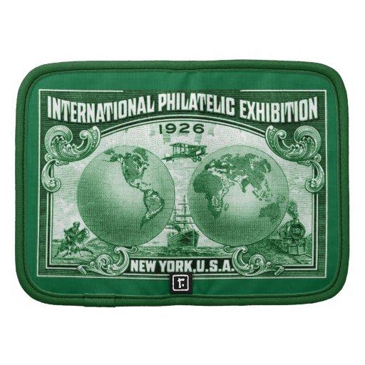 1926 expo filatélica internacional Nueva York Planificador