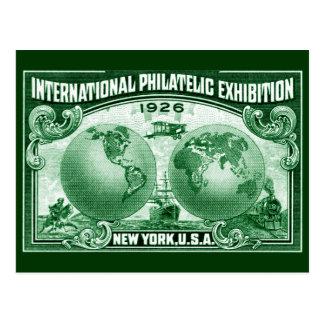 1926 expo filatélica internacional Nueva York Postal