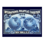 1926 expo filatélica internacional Nueva York Tarjetas Postales