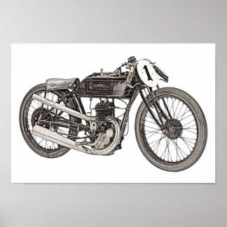 1926 Garelli 348cc Racing Motorcycle Print