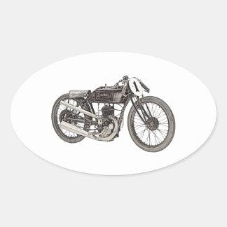 1926 Garelli 348cc Racing Motorcycle Oval Sticker