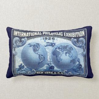 1926 International Philatelic Expo New York Lumbar Pillow