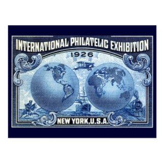 1926 International Philatelic Expo New York Postcard