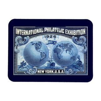 1926 International Philatelic Expo New York Vinyl Magnets