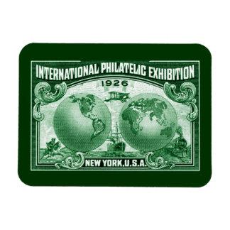 1926 International Philatelic Expo New York Rectangular Photo Magnet