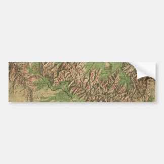 1926 Map of Grand Canyon National Park Arizona Bumper Sticker