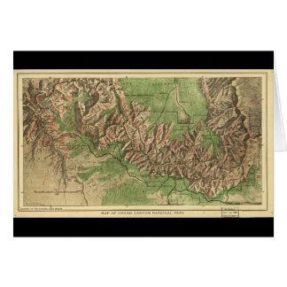 1926 Map of Grand Canyon National Park Arizona Card