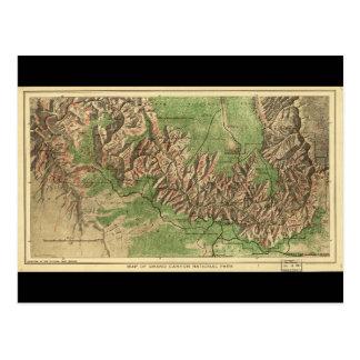 1926 Map of Grand Canyon National Park Arizona Postcard