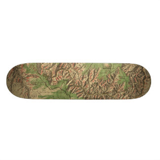 1926 Map of Grand Canyon National Park Arizona Skateboard Deck