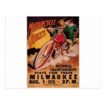 1926 Racing Poster Postcard