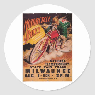 1926 Racing Poster Round Stickers