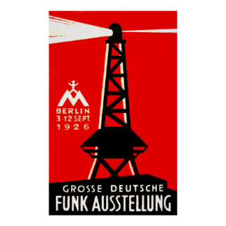 1926 Radio + Broadcasting Poster