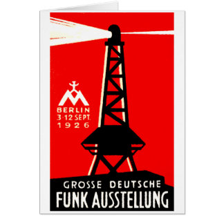 1926 Radio + Broadcasting Poster Cards