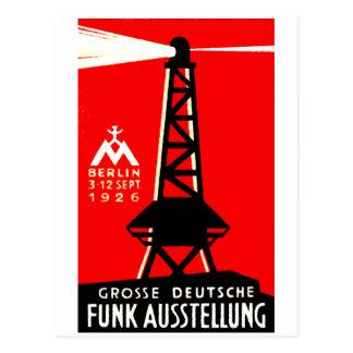 1926 Radio + Broadcasting Poster Postcard
