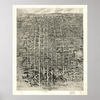 1926 Tallahassee, FL Birds Eye View Panoramic Map Poster