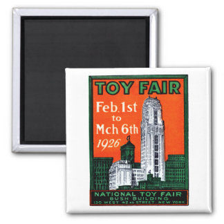 1926 Toy Fair Poster 2 Inch Square Magnet