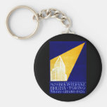 1926 Turin Italy Building Expo Poster Keychain