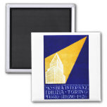 1926 Turin Italy Building Expo Poster Magnets