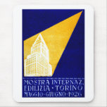 1926 Turin Italy Building Expo Poster Mousepads
