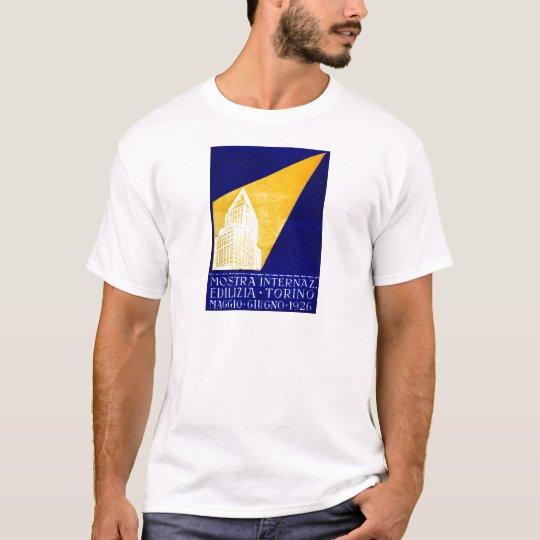 1926 Turin Italy Building Expo Poster T-Shirt