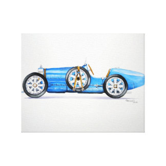 1926 Type 35 Racer Stretched Canvas Print