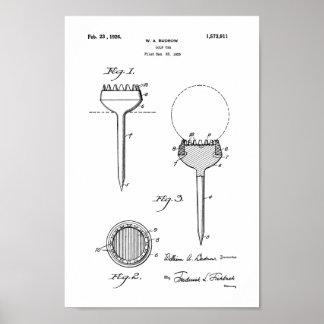 1926 Vintage Golf Tee Patent Art Print