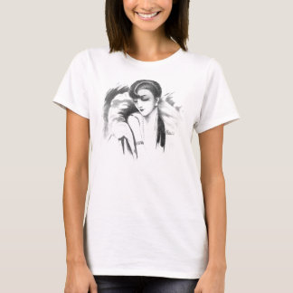 1926 Vintage Hair Style Baby Doll T-Shirt
